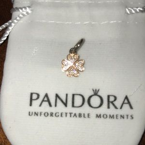 Pandora gold lucky in love pendant